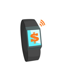payment with smart watch online banking payment vector image