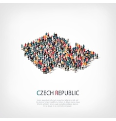 People map country czech republic vector