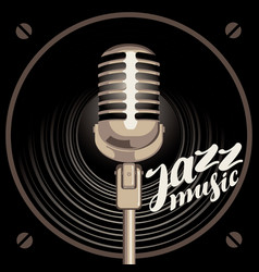 poster for jazz music with speaker and microphone vector image