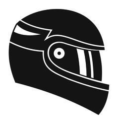 Racing helmet icon simple style vector