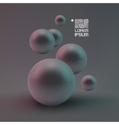Random spheres background vector image