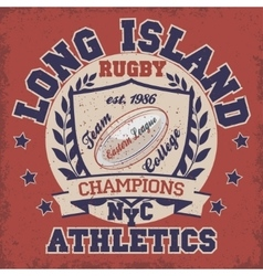 Rugby t-shirt printing design vector
