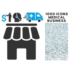 Shop Building Icon with 1000 Medical Business vector image