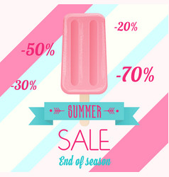 The pink colored ice cream vector