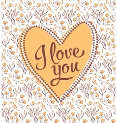 Valentine i love you lettering stylish text vector