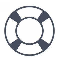White Lifebuoy Icon vector image vector image