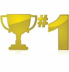 Winner trophy vector