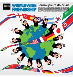 Worldwide friendship conceptual vector image