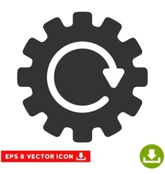 Gearwheel rotation eps icon vector