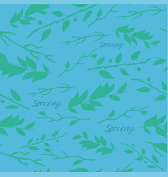 spring pattern with the image of branches vector image