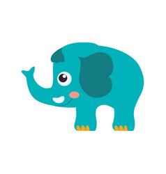 Elephant cartoon drawing childish vector
