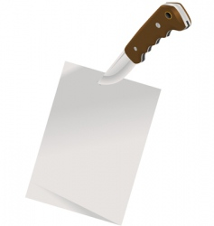 Notepaper and knife vector