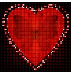 Valentine red frame vector image