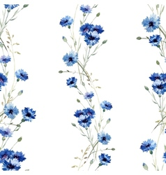 Blue flowers 7 vector image