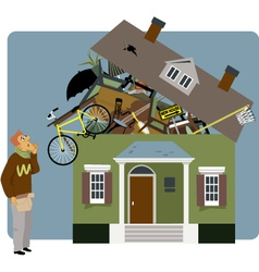 Packing a house vector