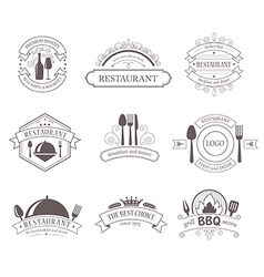 Set of vintage decorations labels vector