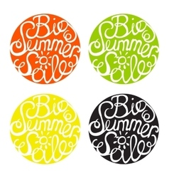 Lettering element in four colors vector