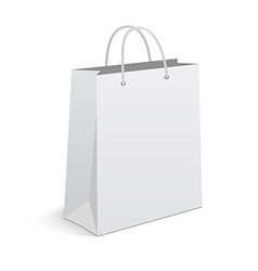Empty shopping bag on white background vector