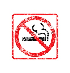 No smoking grunge rubber stamp vector