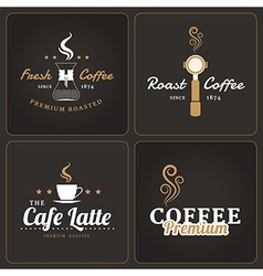 Set of coffee shop badges and labels vector