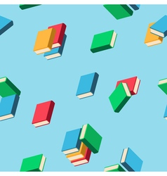 Background with stacks of multi colored books vector