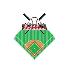 baseball league theme vector image