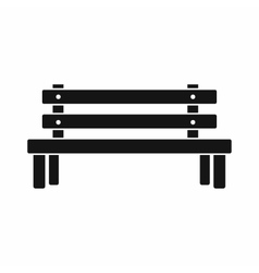 Wooden bench icon simple style vector