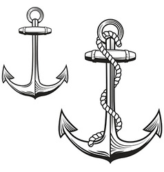 Anchors monochrome icons vector image