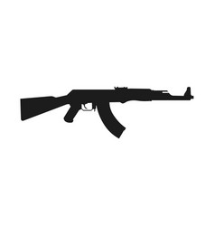 assault rifle icon isolated on white kalashnikov vector image