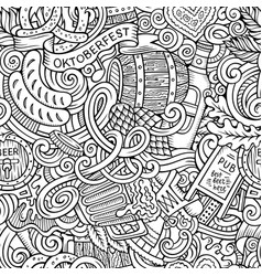 cartoon cute doodles hand drawn octoberfest vector image vector image