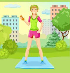 Cartoon sport lifestyle concept vector