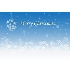 Christmas greeting light and snowflakes vector image
