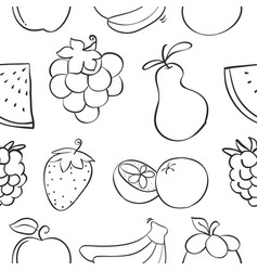 collection stock of fruit pattern style vector image vector image
