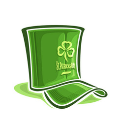 Creative hat for st patricks day vector