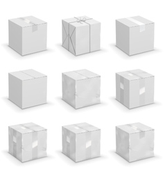 different boxes vector image vector image