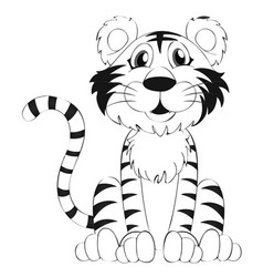 doodle animal for tiger vector image