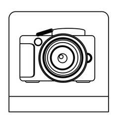 Figure studio professional camera icon vector