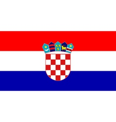 flag of Croatia vector image vector image