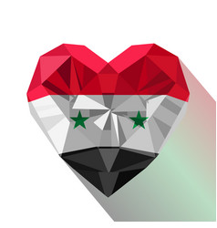 Flat style logo symbol of love syria vector
