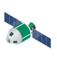 Gps satellite flat isometric vector
