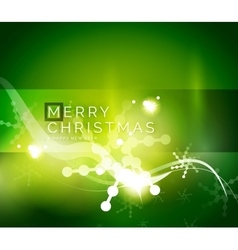 Holiday green abstract background winter vector image vector image