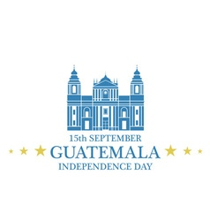 Independence day guatemala vector