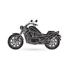 Motorbike side view vector