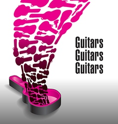 Never enough guitars vector image