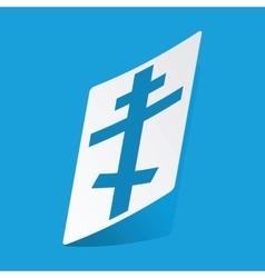 Orthodox cross sticker vector