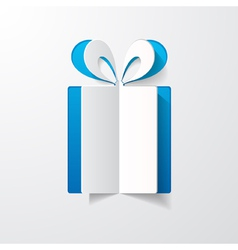 paper gift box vector image