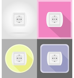 power and energy flat icons 13 vector image vector image
