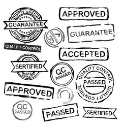 Quality control stamps vector