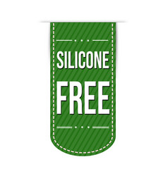 Silicone free banner design vector