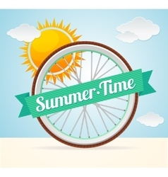 summer bike card vector image vector image